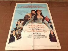 1970 Anne Of The Thousand Days Original Movie House Full Sheet Poster