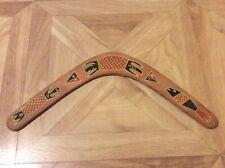 "Australian decorated wooden boomerang 16.5"""