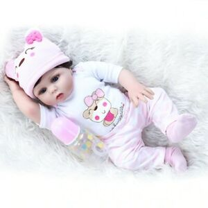 48cm Reborn Baby Dolls Silicone Blue eyes Alive Vinyl realistic Newborn KidsGift