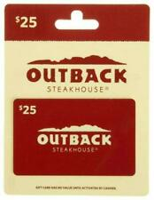 Outback Steakhouse 25$ Gift Card