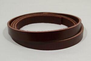 """Leather Strip - Burgundy Latigo - 1"""" x 72"""" - 10-11 oz - 1 Piece (E424)"""