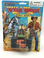 Britains Wild West Cowboys And Indians Carded 7528 Raft With 3 Figures