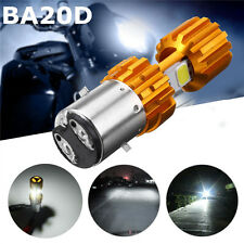 BA20D LED COB Motorcycle Bike Hi/Lo Headlight Lamp Bulb DC12-24V 6500K 1500LM