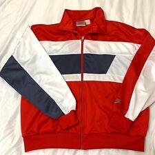 nike vintage Sweat Warmup Xl Red White Blue Jacket 80's 90s Usa.