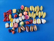 Vintage Doll House Miniature Food Barbie Size Hotdogs, Bananas, Fruits,Lobsters