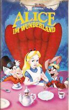 Walt Disneys Alice im Wunderland in Farbe ca. 72 Min. VHS Videokassette