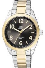 NUEVO Q&Q hombre plata y oro reloj acero inoxidable Q910J405Y