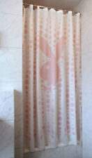 PLAYBOY SHOWER CURTAIN WATER REPELLENT RINGS INCLUDED BABY PINK GIRLS BUBBLES