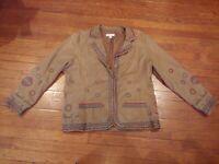 Coldwater Creek Long Sleeve Button Down Shirt/Jacket Size XL Women's