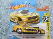 "Hot Wheels 2018 #105/365 2010 PRO STOCK CAMARO yellow ""Mooneyes"" speed graphics"