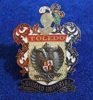 Vintage Brass Toledo Imperial Grille Badge Bumper License Plate Topper Emblem