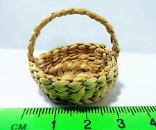 1:12 Scale Hand Made Woven Basket ( Round ) Dolls House Miniature  Accessory
