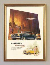 Borgward Isabella de Luxe Plakat 1959  Faksimile 60 im Goldrahmen