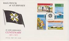 Unaddressed Guernsey FDC First Day Cover 1977 St. John Ambulance 10% off 5