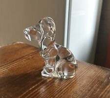Chien Cristal Signé DAUM FRANCE Collection Animal Sujet Vitrine Figurine Statue