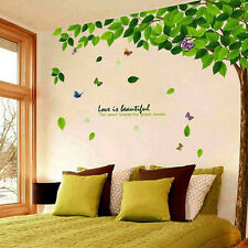 Large Green Tree Butterfly Vinyl Wall Decals Sticker Mural Paper Home Art Decor