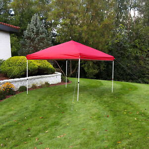 Sunnydaze 12x12 Foot Standard Pop Up Canopy with Carry Bag - Red