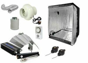 "Indoor Complete Digital Light Kit 600w Hydroponics Grow Room Tent 4"" Fan Filter"