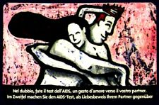 G AA 58 C&C 2585 SCHEDA TELEFONICA NUOVA MAGNETIZZATA AIDS BILINGUE 15.000 L.