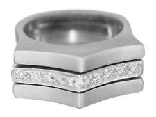 Weißgold 585 Ring massiv mit Brillanten 0,14 ct. Brillantring 14 Karat WG