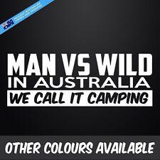 MAN VS WILD Sticker Decal Funny Aussie 4x4 4WD Car Ute