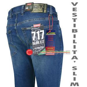 Jeans uomo Carerra 717=Levis 511denim stretch slim fit vita bassa gamba stretta
