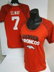 JOHN ELWAY DENVER BRONCOS WOMANS JERSEY SHIRT  NEW W TAGS PICK SIZE TEAM NFL EV
