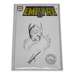 avengers fantastic four empyre 1 Thor original sketch cover variant Ramondelli