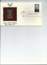 First day cover, Golden Replica stamp, & actual stamps, Black Heritage Series