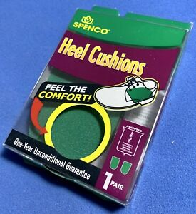 NEW SPENCO Heel Cushions -1 Pair / Green /Size: Medium / Made in the USA /Insole
