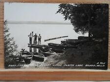 Honor Mi Mich Michigan, Cook's resort- Little Platte early postcard, real Photo