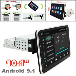"""10.1"""" 360° Screen 1DIN Android9.1 Quad Core Car Radio MP5 Player GPS WIFI 1G+16G"""