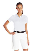 Callaway Women's 1/2 Button Short Sleeve Opti-Vent Open Mesh Polo - LARGE