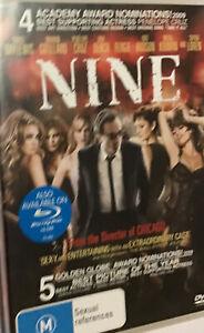 NINE DVD Daniel Day-Lewis, R4, GC(85%)
