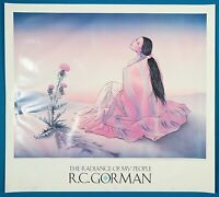 "RC Gorman Hand Signed ""The Radiance of My People"" Poster 1992"