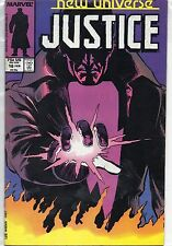 Marvel Comics Justice #16 February 1988 New Universe VF