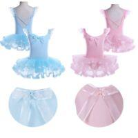 Kids Girl Gymnastic Tutu Skirt Princess Ballet Leotard Dress Unitard Dancewear