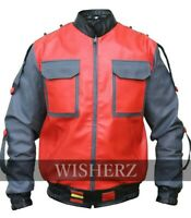 Marty Mcfly 2 Leather Jacket, Back to the Future Michael J. Fox Jacket,All Sizes