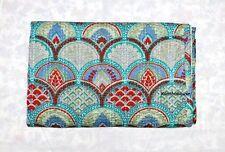 Indian Kantha Throw Floral Print Vintage Quilt Reversible Bedspread_Cotton*Gudri