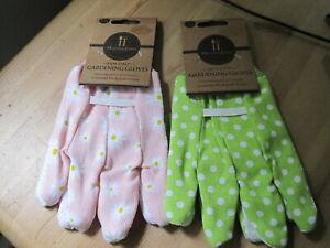 2 Pairs of Mason&Jones Womens Gardening gloves Hardwaring & Durable