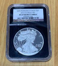 2012-S American Silver Eagle $1 NGC PF 69 Ultra Cameo