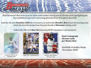 GAVIN LUX 2020 BOWMAN'S BEST FULL CASE 8-BOX PLAYER BREAK