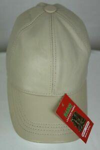 New 100% Genuine Real Lambskin Leather Baseball Cap Hat Trucker Sports Visor