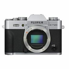 Fuji Fujifilm X-T20 Body Only (Silver) & FREE Extra Fuji Battery *NEW*