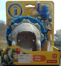 NEW Fisher Price Imaginext Space Alien Astronaut Man Alpha Blade Figure Part toy