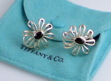 8478a2c5f Tiffany & Co PALOMA PICASSO Sterling Silver & Onyx Daisy Large Pierced  Earrings
