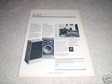 Acoustic Research AR-11 Speaker Ad from 1975