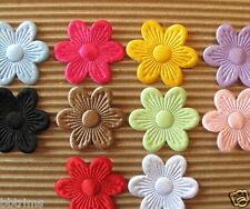 "US SELLER - 100 pcs x 1 1/8"" Satin Spring Flower Padded Appliques for Bow ST497"