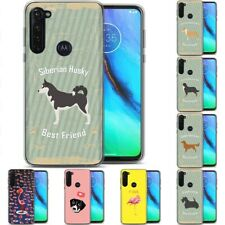 TPU Phone Case for Motorola G Stylus,G7 Play,Power,Plus,Dog Pet Pattern Print