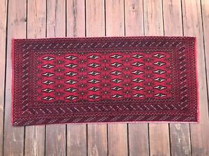 Vintage Turkomen Afghani Complete Chuval Tribal Hand Knotted Rug Storage Bag